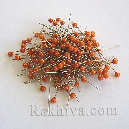 Игли с перли  OASIS цвят оранжево, 1 кутия оранжево (144 бр.)