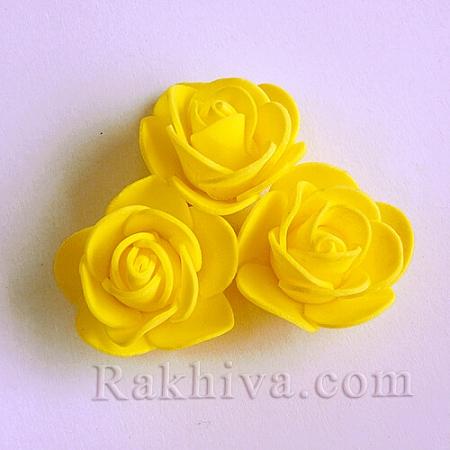 Силиконови розички, жълто (3,5 см/ 10 бр.)