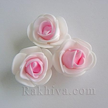 Силиконови розички , бяло и розово (3,5 см/ 10 бр.)