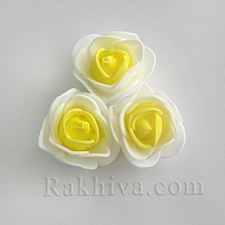 Силиконови розички , екрю и жълто (3,5 см/ 10 бр.)