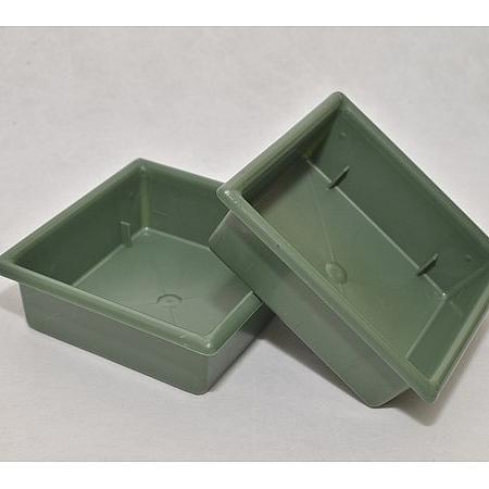 Подложка за пиафлора (фоам, гъба за цветя) - квадрат зелена, крадрат зелен 10/10/4 см