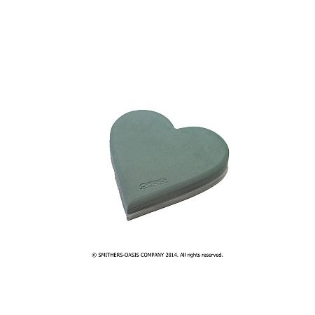 Пиафлора сърце с подложка, фоам, гъба за цветя OASIS, пиафлора сърце 29/30/4,5 см