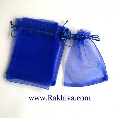 Торбички от органза тъмно синьо, 12 см/ 17 см, (12/17/8255)