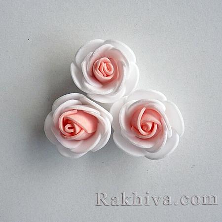 Силиконови розички, бяло,розов кварц (3,5 см/ 10 бр.)