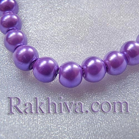 Перли (изкуствени) за декорация - светло лилаво