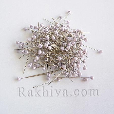 Игли с перли  OASIS цвят светло лилаво, 1 кутия св. лилаво (144 бр.)