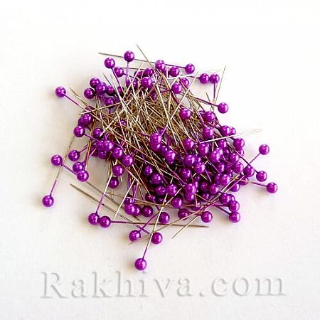 Игли с перли  OASIS цвят лилаво, 1 кутия лилаво (144 бр.)