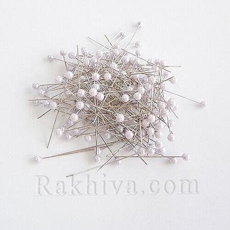 Игли с перли  OASIS цвят бяло, 1 кутия бяло (144 бр.)