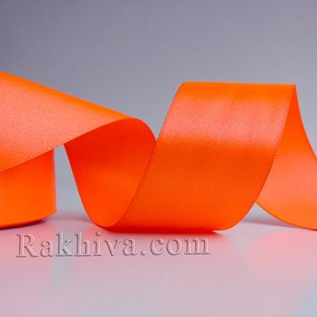Панделка сатен - неоново оранжево, 1 ролка 37 мм/ 25 ярда 212/(37/25/2380-70)