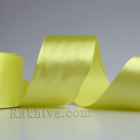 Панделка сатен - лимонено жълто, 1 ролка 37 мм/ 25 ярда 210/(37/25/2373)