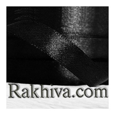 Панделка сатен - черно