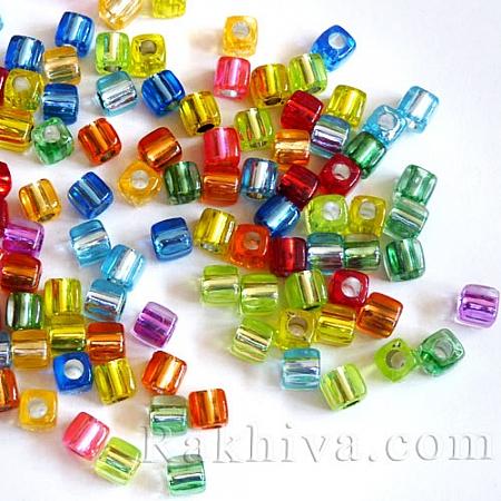 Стъклени мънистата Куб МИКС, микс (20 бр., PB78P9520)
