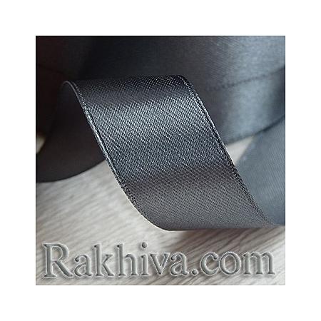 Панделка сатен - тъмно сиво, 3 мм/ 20 метра 198/(3/20/2322), без шпула