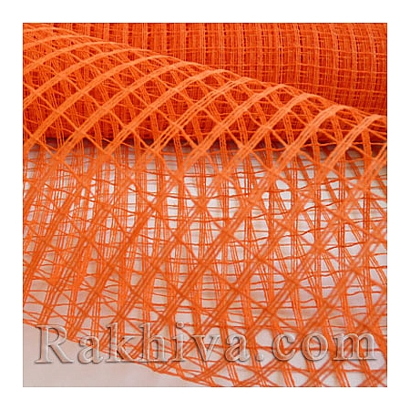 Мрежа за декорация  Ракхива цвят оранжево, 50см/5ярда (оранжево)