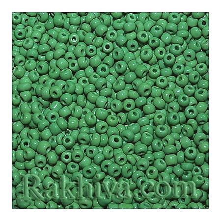 Мъниста за бижута, за декорация, за украса, за дръвчета от мъниста непрозрачни, зелено непрозрачно (A010-2mm-47)