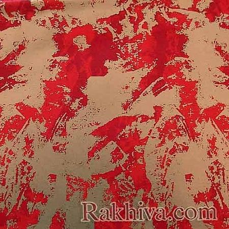 Целофан за цветя, Петна/ червено,злато (50/50/61380-200)
