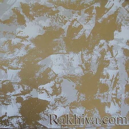 Целофан за цветя, Петна/ бяло,злато (50/50/61310-200)