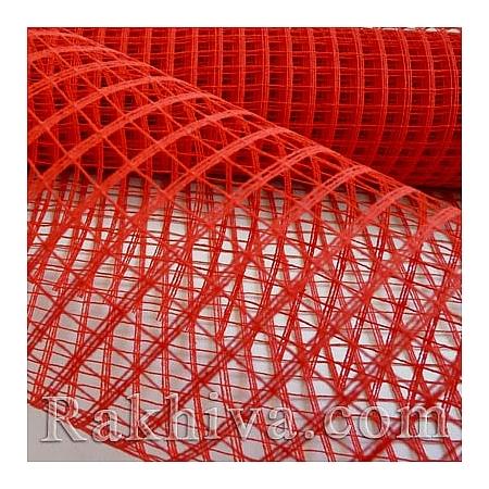 Мрежа за декорация  Ракхива цвят червено, 50см/5ярда (червено)
