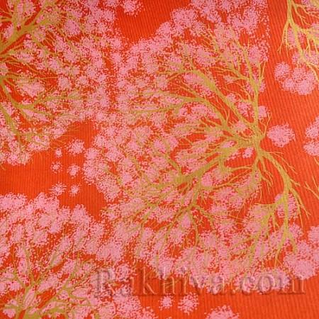 Крафт хартия за букети и опаковане Дървета, 70 см/32 м, червено (70/32/11880)