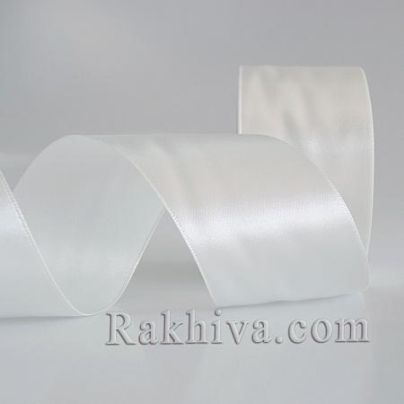 Панделка сатен - опушено бяло, 1 ролка 25 мм/ 25 ярда 101/(25/25/2311)