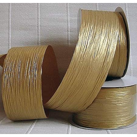 Хартиена панделка, злато(55/25/66200)
