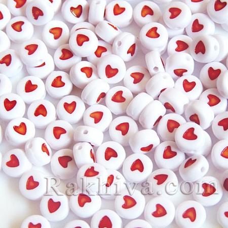 Мъниста със сърце, сърце (10гр., PB37C9070-2)