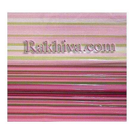 Двуцветен целофан за цветя, Цветна дъга/ розово (50/50/31340)