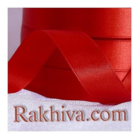Панделка сатен - червено, 1 ролка 3 мм/ 100 метра 195/(3/100/2380)