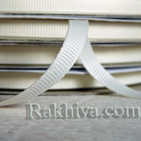Панделка сатен - релефен сатен, 1 ролка 6 мм/ 25 ярда (6/25/12312) (екрю)