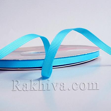 Панделка сатен - релефен сатен, 6 мм/ 25 ярда (тюркоаз) (6/25/12357)