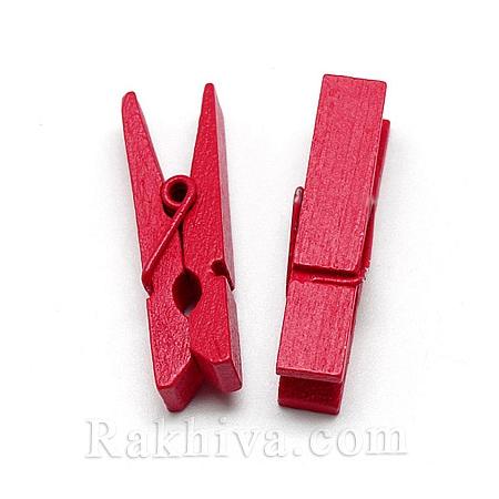 Дървени щипки, червено, дървени щипки червено 35/7мм (10бр.) WOOD-R249-013D