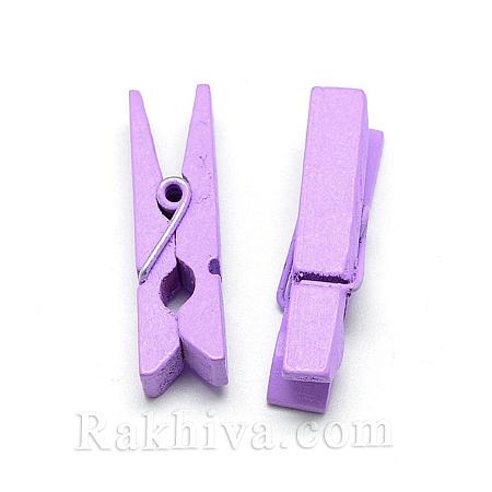 Дървени щипки, лилаво, дървени щипки лилаво 35/7мм (10бр.) WOOD-R249-013E