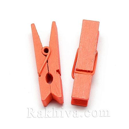 Дървени щипки, оранжево, дървени щипки оранжево 35/7мм (10бр.) WOOD-R249-013H