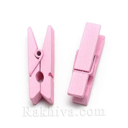 Дървени щипки, розово, дървени щипки розово 35/7мм (10бр.) WOOD-R249-013J