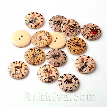 Дървени копченца Винтидж (микс), копченца Винтидж Микс, 5 бр. (BUTT-M014-19)