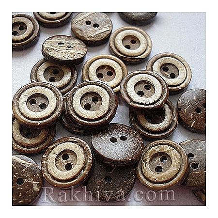 Копченца от кокос, кафяво, натурал 10 бр. (NNA0YXZ)