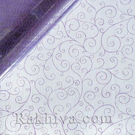 Целофан за цветя, Спирали/ лилаво (50/50/21390)