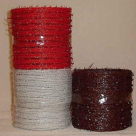 Мрежа  Ракхива  със седеф, 10 см червено (10/10/2580-1)