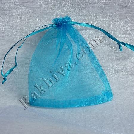 Торбички от органза тюркоаз, 10 см/ 12 см, (10/12/8257)