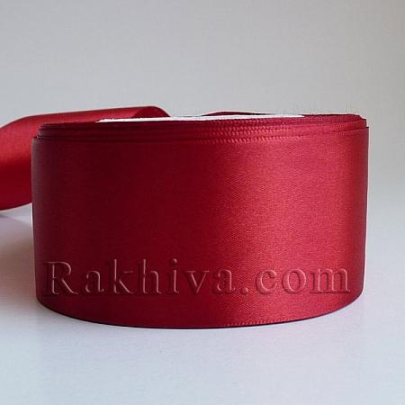 Панделка сатен - тъмно червено