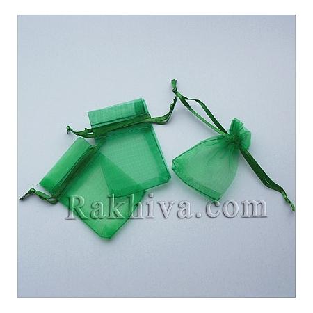 Торбички от органза зелено, 5 см/7 см , (5/7/8265-1)