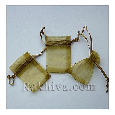 Торбички от органза злато мат, 5 см/ 7 см, (5/75/82200-1)