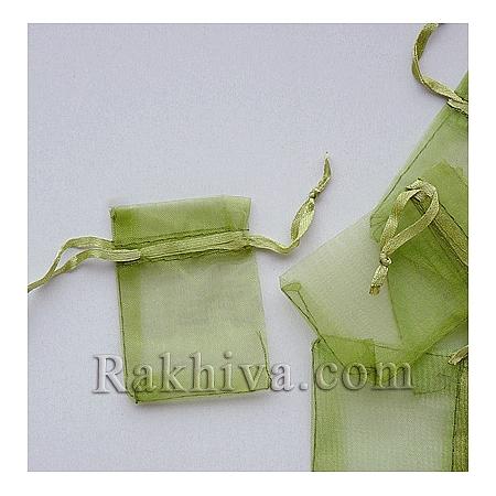 Торбички от органза резеда, 5 см/7 см, резеда (5/7/8266-1)
