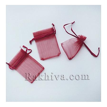 Торбички от органза бордо, 5 см/7 см, (5/7/8286-1)