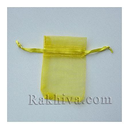 Торбички от органза жълто, 5 см/7 см, (5/7/8270-1)