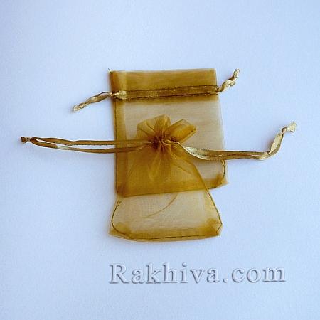 Торбички от органза злато, 7 см / 9 см, (7/9/84200)