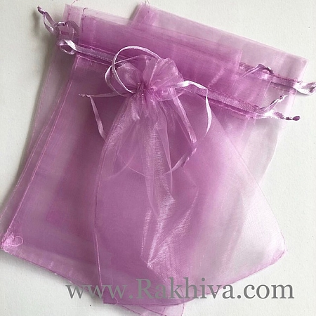 Торбички от органза розово - лилаво, 15 см / 20см, (15/20/8240-90)