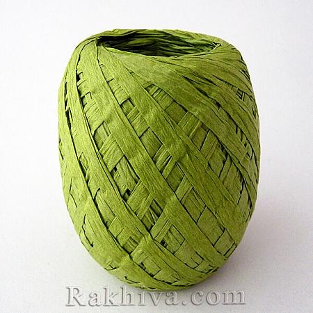 Хартиена рафия, грахово зелено (20/50/6262)