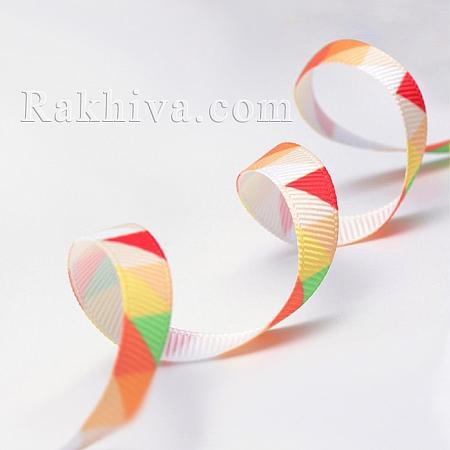 Релефен сатен, 10 мм/ 9 м (оранжево триъгълник релефен сатен) (10/10/014-75)