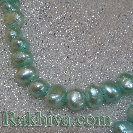 Естествени перли (култивирани) - св.синьо, 1 наниз (A02SB121)